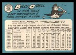 1965 Topps #476  Billy O'Dell  Back Thumbnail