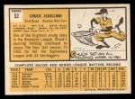 1963 Topps #52 *ERR* Chuck Schilling  Back Thumbnail