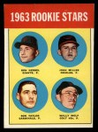 1963 Topps #208   -  Ron Herbel / John Miller / Wally Wolf / Ron Taylor Rookies   Front Thumbnail