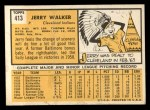 1963 Topps #413 RED Jerry Walker  Back Thumbnail