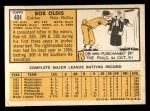 1963 Topps #404 RGT Bob Oldis  Back Thumbnail
