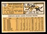 1963 Topps #370  Dick Donovan  Back Thumbnail