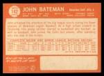 1964 Topps #142  John Bateman  Back Thumbnail