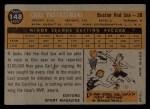 1960 Topps #148   -  Carl Yastrzemski Rookie Star Back Thumbnail