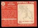 1958 Topps #32  Bobby Dillon  Back Thumbnail