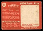 1958 Topps #11  Pete Brewster  Back Thumbnail