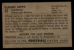 1952 Bowman Large #41  Claude Hipps  Back Thumbnail