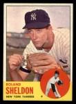 1963 Topps #507  Roland Sheldon  Front Thumbnail