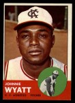 1963 Topps #376 xBRK John Wyatt  Front Thumbnail
