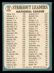 1965 Topps #12   -  Don Drysdale / Bob Gibson / Bob Veale NL Strikeout Leaders Back Thumbnail