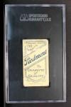 1909 T206 THR Nap Lajoie  Back Thumbnail
