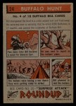 1956 Topps Round Up #24   -  Buffalo Bill Buffalo Hunt Back Thumbnail