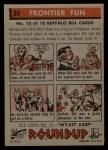 1956 Topps Round Up #30   -  Buffalo Bill  Frontier Fun Back Thumbnail