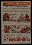 1956 Topps Round Up #63   -  Geronimo Wall Of Flame Back Thumbnail