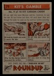 1956 Topps Round Up #79   -  Kit Carson Kits Gamble Back Thumbnail