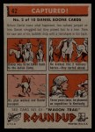 1956 Topps Round Up #42   -  Daniel Boone  Captured Back Thumbnail