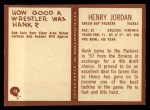 1967 Philadelphia #78  Henry Jordan  Back Thumbnail