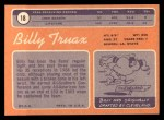 1970 Topps #18  Billy Truax  Back Thumbnail