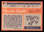 1970 Topps #199  Charlie Smith  Back Thumbnail