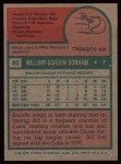 1975 Topps #85  Bill Bonham  Back Thumbnail