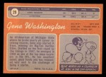 1970 Topps #29  Gene Washington  Back Thumbnail