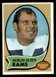 1970 Topps #237  Merlin Olsen  Front Thumbnail