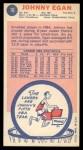 1969 Topps #16  Johnny Egan  Back Thumbnail