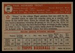 1952 Topps #39 RED Dizzy Trout  Back Thumbnail