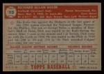 1952 Topps #113  Dick Sisler  Back Thumbnail