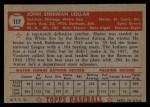 1952 Topps #117  Sherm Lollar  Back Thumbnail