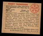 1950 Bowman #174  Hank Thompson  Back Thumbnail