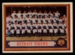 1957 Topps #198   Tigers Team Front Thumbnail