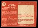 1958 Topps CFL #18  Jackie Parker  Back Thumbnail