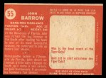 1958 Topps CFL #55  John Barrow  Back Thumbnail
