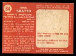 1958 Topps CFL #84  Dick Shatto  Back Thumbnail