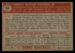 1952 Topps #84  Vern Stephens  Back Thumbnail