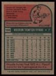 1975 Topps #166  Woodie Fryman  Back Thumbnail