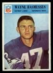 1966 Philadelphia #74  Wayne Rasmussen  Front Thumbnail