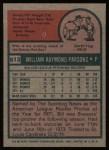 1975 Topps #612  Terry Hughes  Back Thumbnail