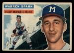 1956 Topps #10  Warren Spahn  Front Thumbnail