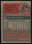 1975 Topps #458  Ross Grimsley  Back Thumbnail
