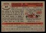 1956 Topps #37  Chuck Drazenovich  Back Thumbnail