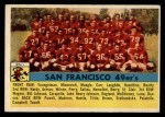 1956 Topps #26   49ers Team Front Thumbnail