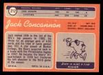 1970 Topps #212  Jack Concannon  Back Thumbnail