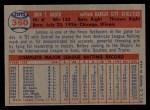 1957 Topps #360  Johnny Groth  Back Thumbnail