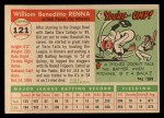 1955 Topps #121  Bill Renna  Back Thumbnail