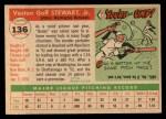 1955 Topps #136  Bunky Stewart  Back Thumbnail