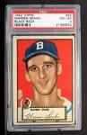1952 Topps #33 BLK Warren Spahn  Front Thumbnail