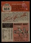 1953 Topps #164  Frank Shea  Back Thumbnail