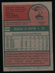 1975 Topps #454  Doug Griffin  Back Thumbnail